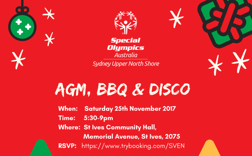AGM, BBQ and Disco – You're Invited!